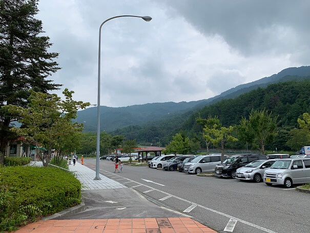 安佐SA 駐車場